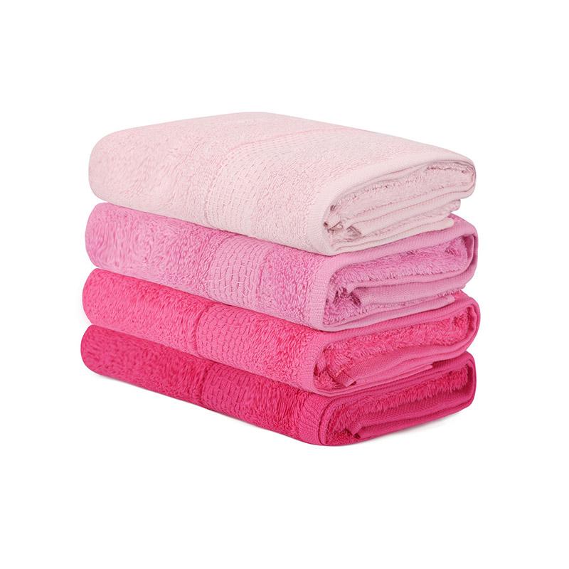 Σετ με 4 Πετσέτες Προσώπου 50 x 90 cm Χρώματος Φούξια Beverly Hills Polo Club 355BHP2377 - 355BHP2377