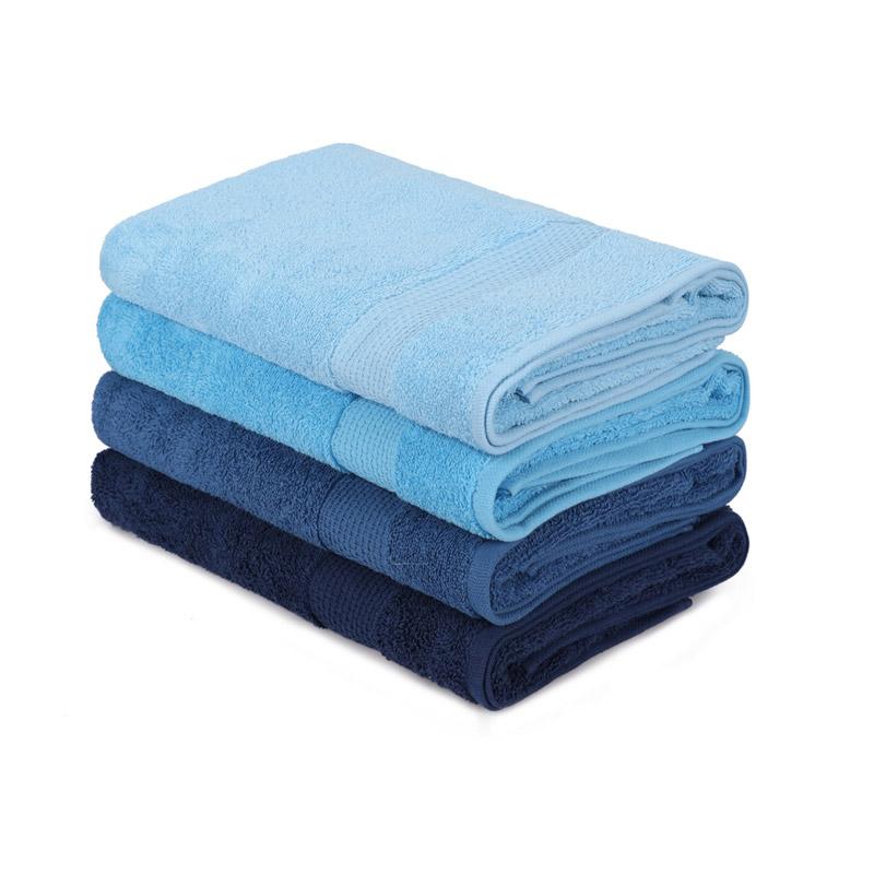 Σετ με 4 Πετσέτες Μπάνιου 70 x 140 cm Χρώματος Μπλε Beverly Hills Polo Club 355BHP2612 - 355BHP2612