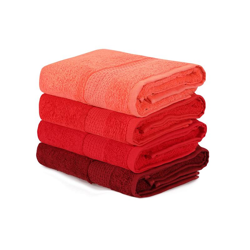 Σετ με 4 Πετσέτες Προσώπου 50 x 90 cm Χρώματος Κόκκινο Beverly Hills Polo Club 355BHP2379 - 355BHP2379