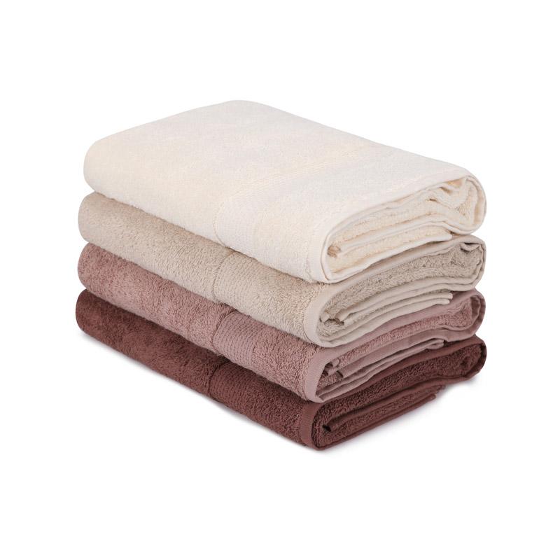 Σετ με 4 Πετσέτες Μπάνιου 70 x 140 cm Χρώματος Καφέ Beverly Hills Polo Club 355BHP2613 - 355BHP2613