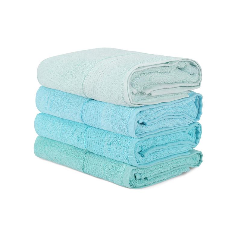 Σετ με 4 Πετσέτες Προσώπου 50 x 90 cm Χρώματος Γαλάζιο Beverly Hills Polo Club 355BHP2380 - 355BHP2380
