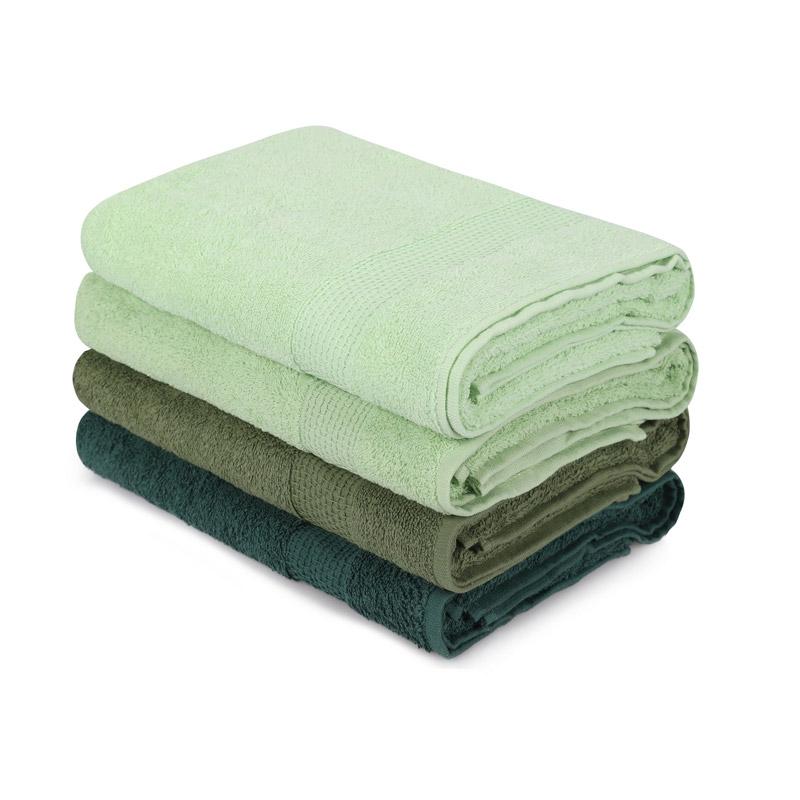 Σετ με 4 Πετσέτες Μπάνιου 70 x 140 cm Χρώματος Πράσινο Beverly Hills Polo Club 355BHP2614 - 355BHP2614
