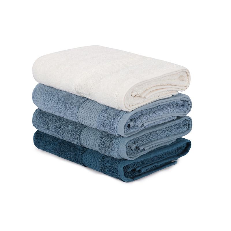 Σετ με 4 Πετσέτες Προσώπου 50 x 90 cm Χρώματος Πετρόλ Beverly Hills Polo Club 355BHP2382 - 355BHP2382