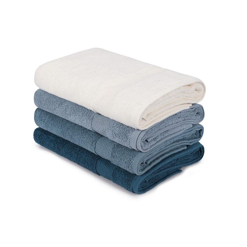 Σετ με 4 Πετσέτες Μπάνιου 70 x 140 cm Χρώματος Πετρόλ Beverly Hills Polo Club 355BHP2621 - 355BHP2621