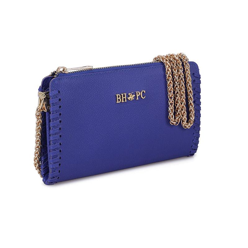 Γυναικείο Τσαντάκι Ώμου με Αλυσίδα Χρώματος Μπλε Beverly Hills Polo Club 668BHP0218 - 668BHP0218