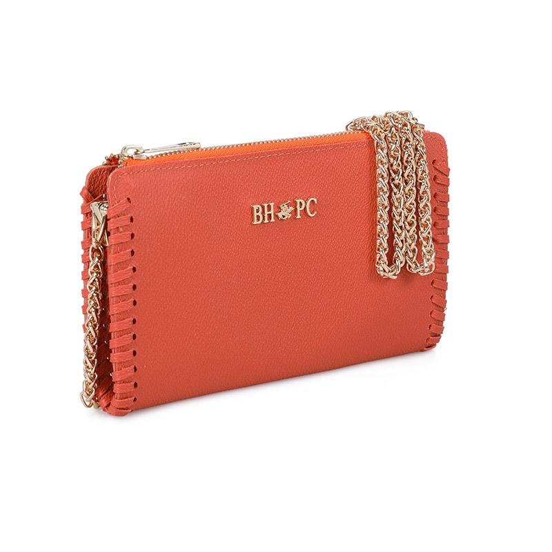 Γυναικείο Τσαντάκι Ώμου με Αλυσίδα Χρώματος Πορτοκαλί Beverly Hills Polo Club 668BHP0219 - 668BHP0219