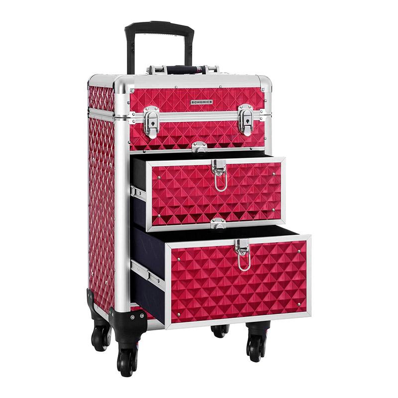 Βαλίτσα Μακιγιάζ 34 x 27 x 57 cm Χρώματος Κόκκινο Songmics JHZ08RD - JHZ08RD