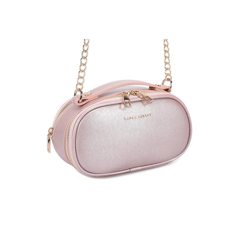 Γυναικεία Τσάντα Ώμου με Αλυσίδα Χρώματος Ροζ - Χρυσό Laura Ashley Lyle 651LAS1828 - 651LAS1828