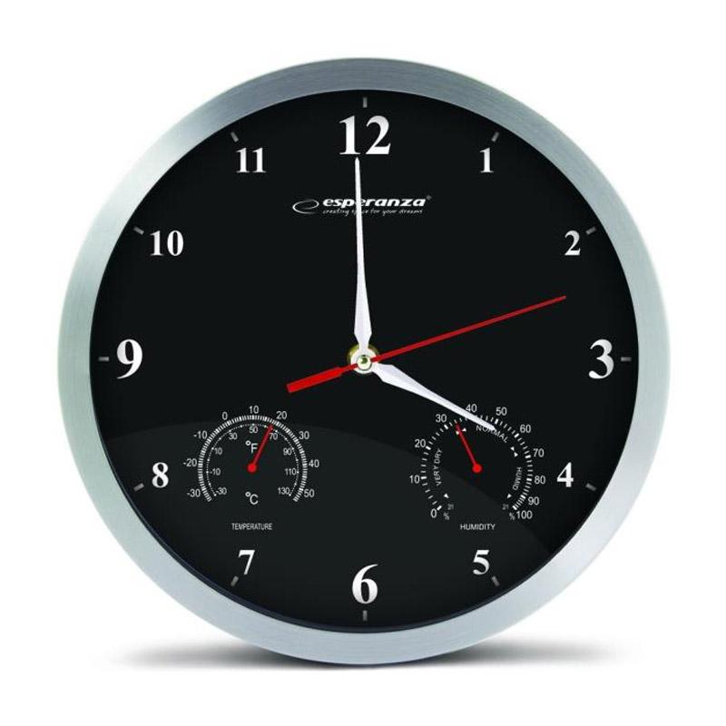 Ρολόι Τοίχου Esperanza Washington Χρώματος Μαύρο EHC008K - EHC008K