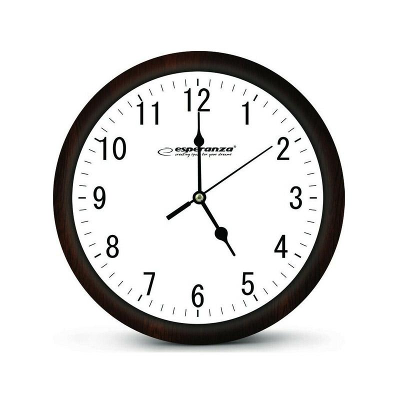Ρολόι Τοίχου Χρώματος Λευκό Esperanza Los Angeles EHC015W - EHC015W