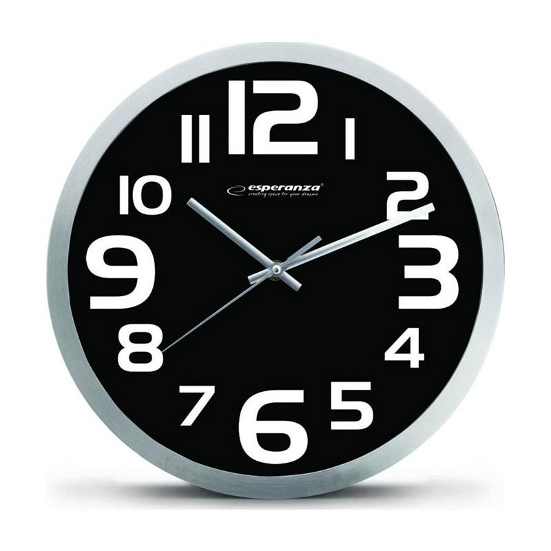 Ρολόι Τοίχου Esperanza Zurich Χρώματος Μαύρο EHC013K - EHC013K