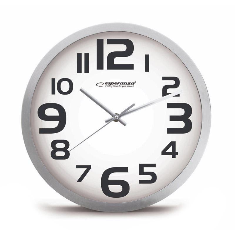 Ρολόι Τοίχου Esperanza Zurich Χρώματος Λευκό EHC013W - EHC013W