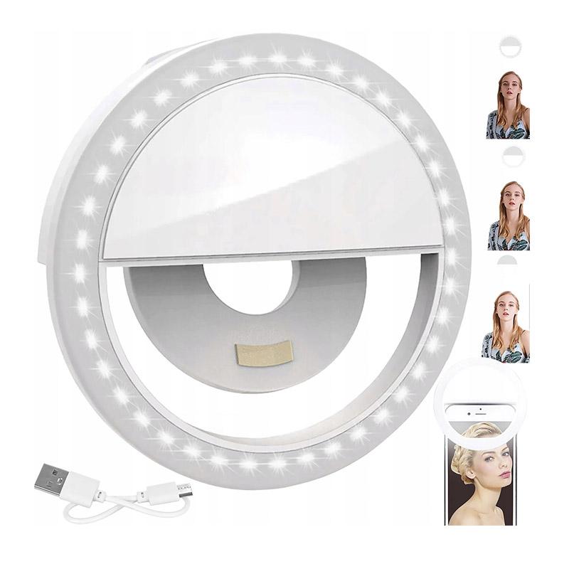 Επαναφορτιζόμενο LED Δαχτυλίδι Selfie για Smartphone με 3 Επίπεδα Έντασης SPM 11749 - 11749