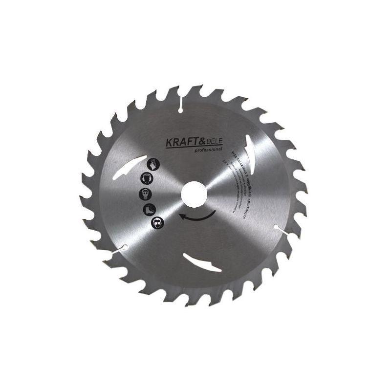 Δίσκος Κοπής Ξύλου 230 x 22.23 mm με 24 Δόντια για Κυκλικά Πριόνια Τραπεζιού Kraft&Dele KD-1029 - KD-1029