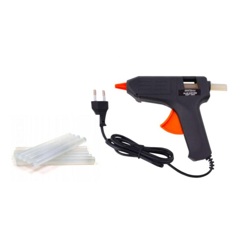 Ηλεκτρικό Πιστόλι Θερμικής Σιλικόνης 20 W με Αξεσουάρ Kraft&Dele KD-10351 - KD-10351