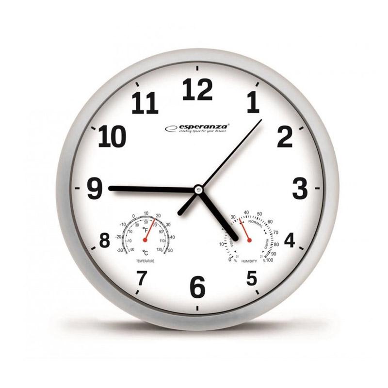 Ρολόι Τοίχου Esperanza Χρώματος Λευκό EHC016W - EHC016W