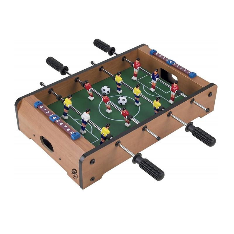 Ξύλινο Επιτραπέζιο Ποδοσφαιράκι με 4 Σειρές 51 x 51 x 10 cm MWS17092 - MWS17092