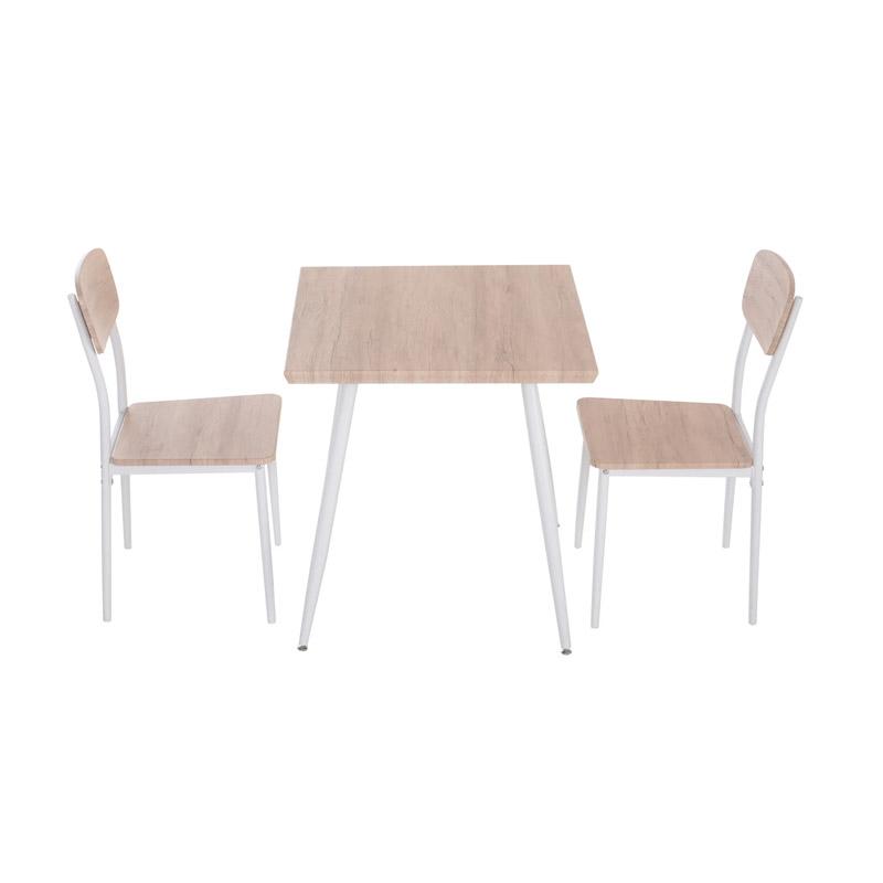 Σετ Μεταλλικό Τετράγωνο Τραπέζι 70 x 70 x 76 cm με 2 Καρέκλες HOMCOM 835-086 - 835-086