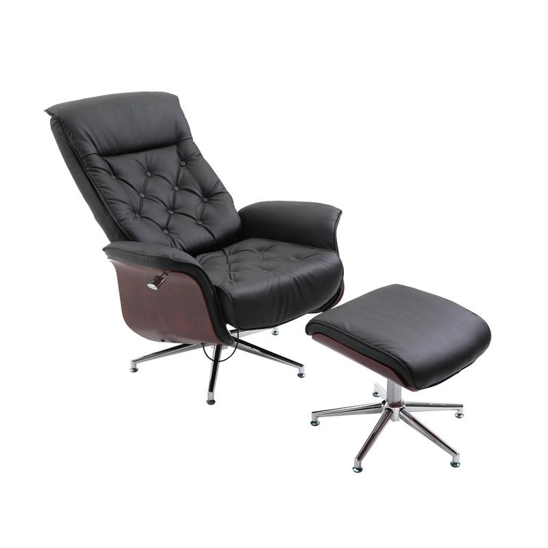 Ανακλινόμενη Πολυθρόνα με Υποπόδιο 82 x 83 x 110 cm HOMCOM 833-654 - 833-654