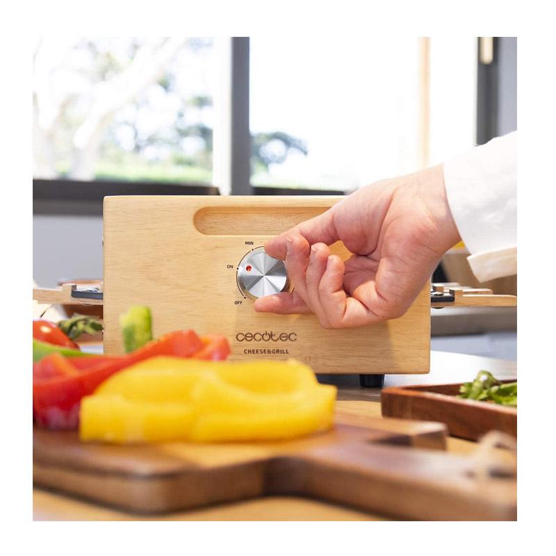 Ηλεκτρική Ψησταριά Raclette Grill 1200 W Cecotec Cheese&Grill 8200 Wood Black CEC-03090 - CEC-03090