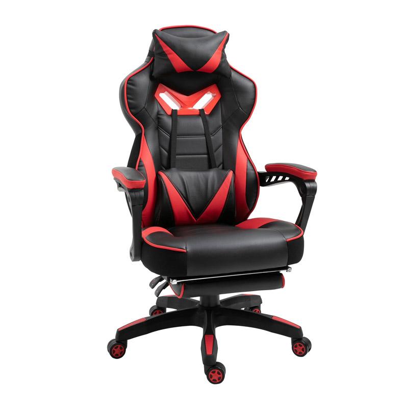 Καρέκλα Gaming με Υποπόδιο 65 x 70 x 118.5-126.5 cm Vinsetto 921-237RD - 921-237RD