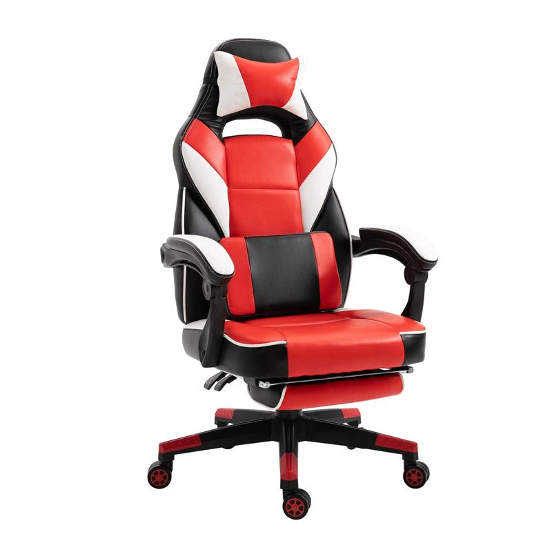 Καρέκλα Gaming με Υποπόδιο 68 x 70 x 120-127 cm Vinsetto 921-216V70RD - 921-216V70RD