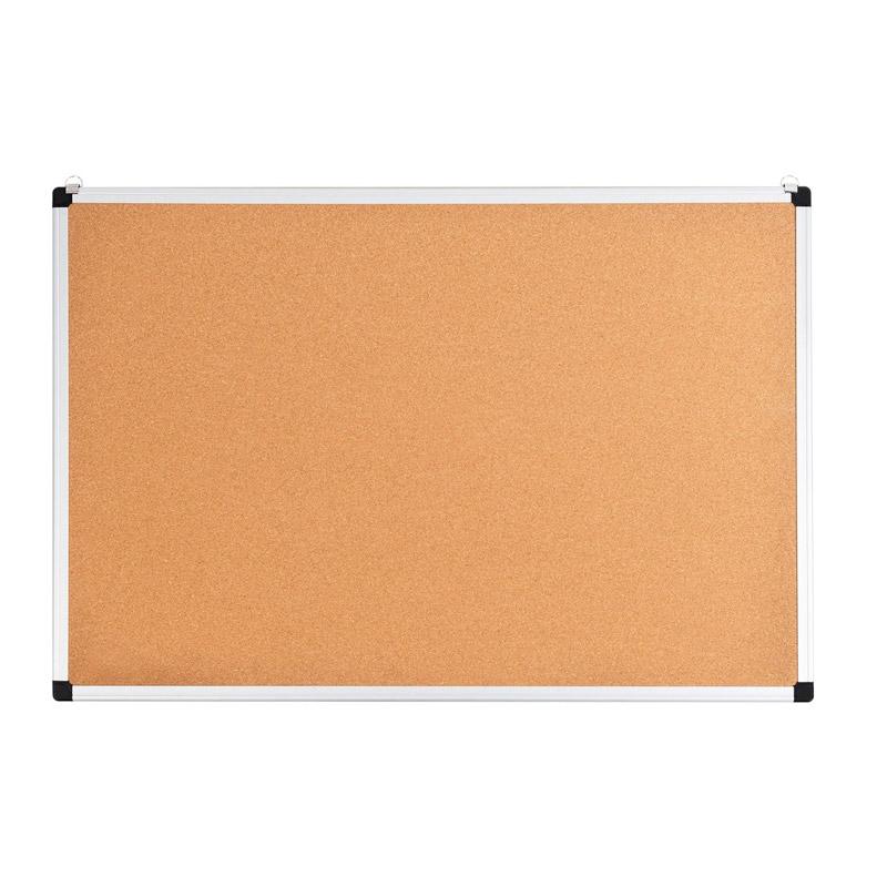 Πίνακας Ανακοινώσεων Φελλού με Πλαίσιο Αλουμινίου και 2 Γάντζους 60 x 90 x 1.1 cm Costway ST39171 - ST39171