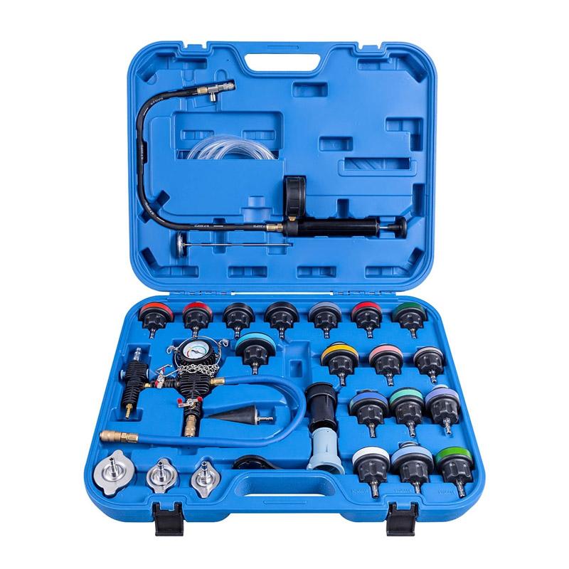 Σετ Ελέγχου Στεγανότητας Κυκλώματος Ψύξης 28 τμχ Χρώματος Μπλε Costway TL33721BL - TL33721BL