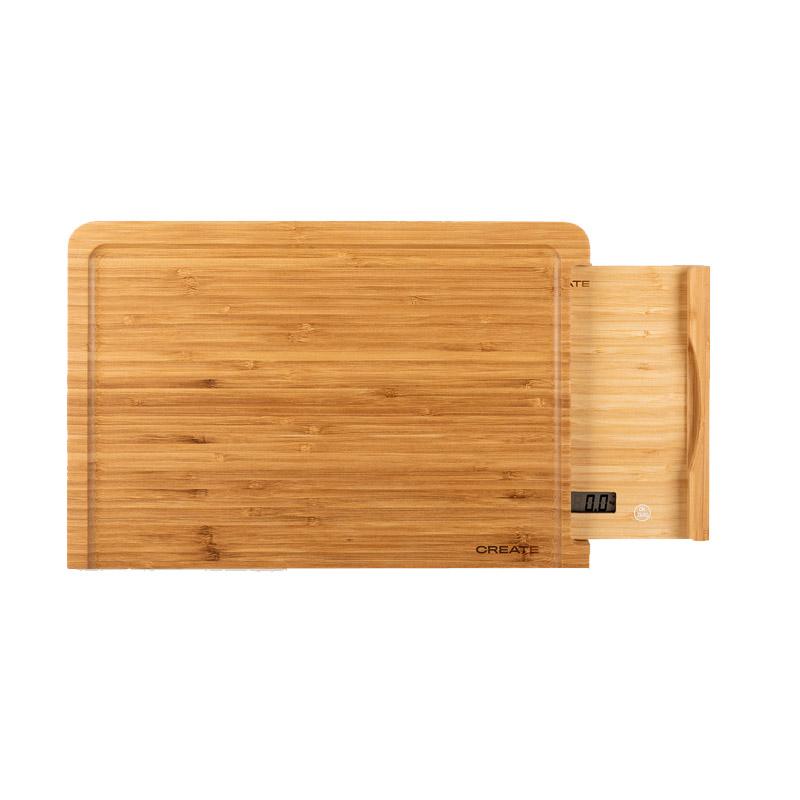 Ψηφιακή Ζυγαριά Κουζίνας από Μπαμπού με Δίσκο Κοπής CREATE IKOHS 8435572606596 - 8435572606596