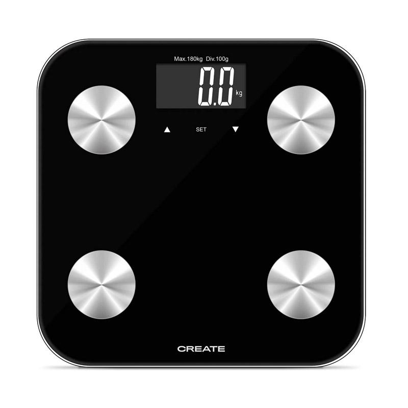 Ψηφιακή Ζυγαριά Μπάνιου - Λιπομετρητής Χρώματος Μαύρο SMART BODY BIO CREATE IKOHS 8435572607708 - 8435572607708