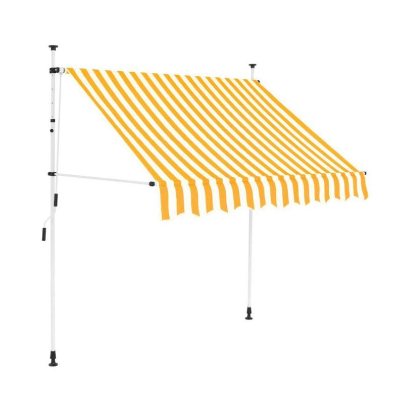 Χειροκίνητη Πτυσσόμενη Τέντα με Μανιβέλα 250 x 120 cm Hoppline HOP1001018-2 - HOP1001018-2