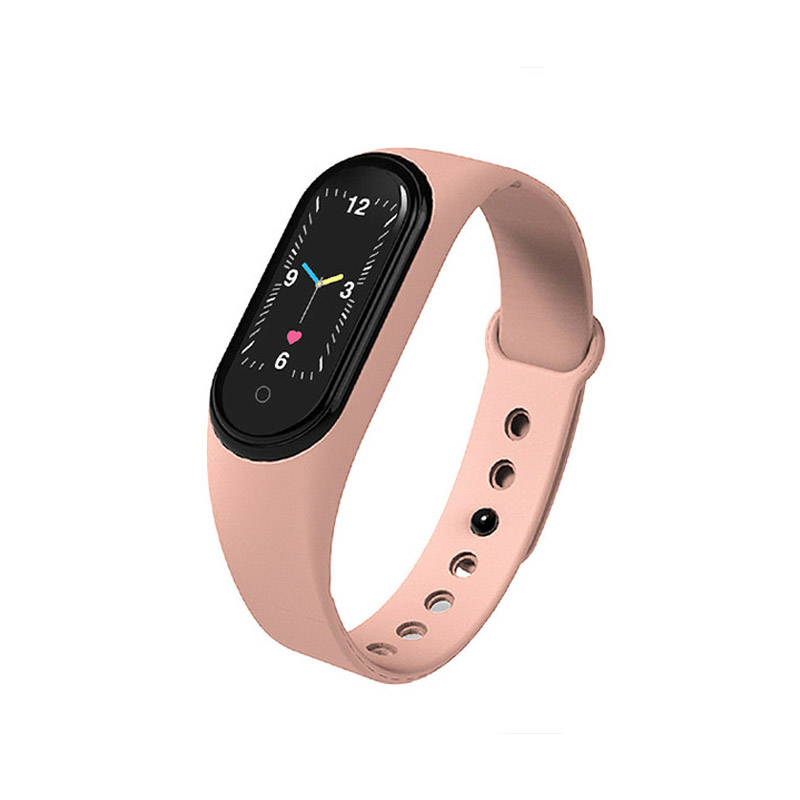 Ρολόι Fitness Tracker με Πιεσόμετρο και Μετρητή Καρδιακών Παλμών Smart Band M5 Χρώματος Ροζ SPM M5-Smart-Pinksand - M5-Smart-Pinksand