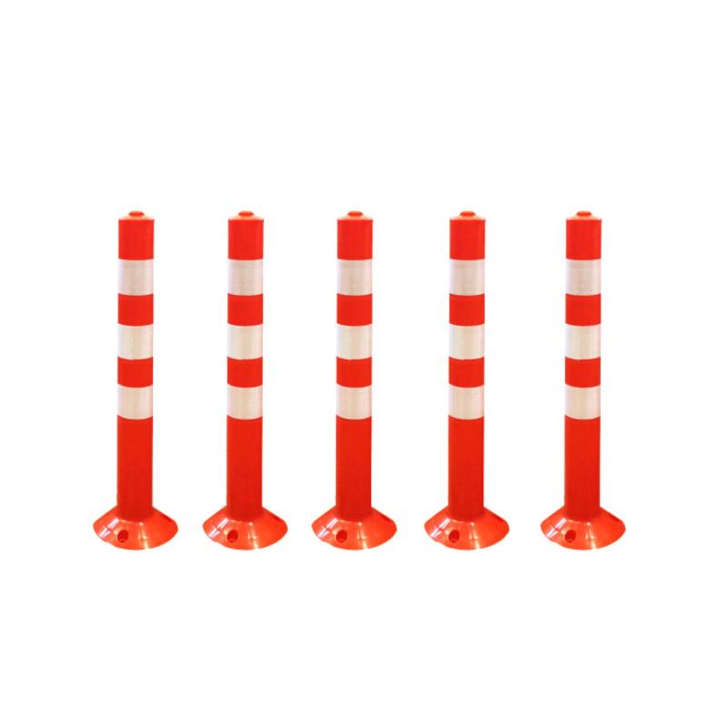 Σετ Πλαστικά Εύκαμπτα Κολωνάκια Σήμανσης 74 cm 5 τμχ Hoppline HOP1001181 - HOP1001181