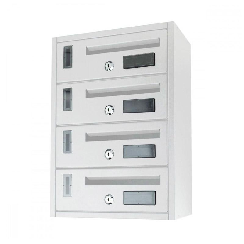 Μεταλλικό Γραμματοκιβώτιο 4 Θέσεων 42 x 18 x 30 cm MWS16049 - Media Wave MWS16049