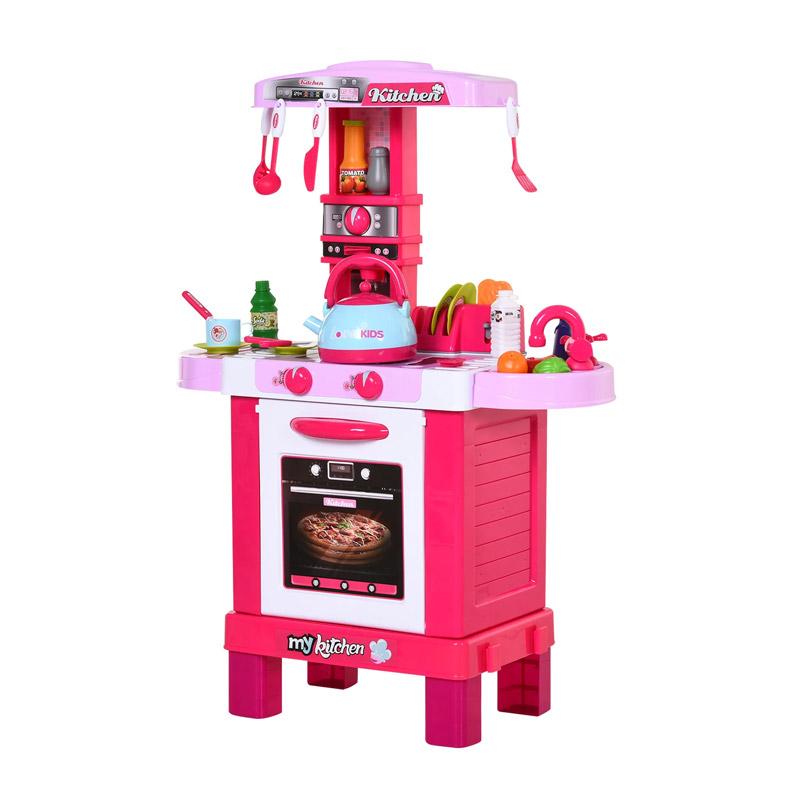 Παιδική Κουζίνα 64 x 29 x 87 cm με Αξεσουάρ HOMCOM 350-046PK - 350-046PK