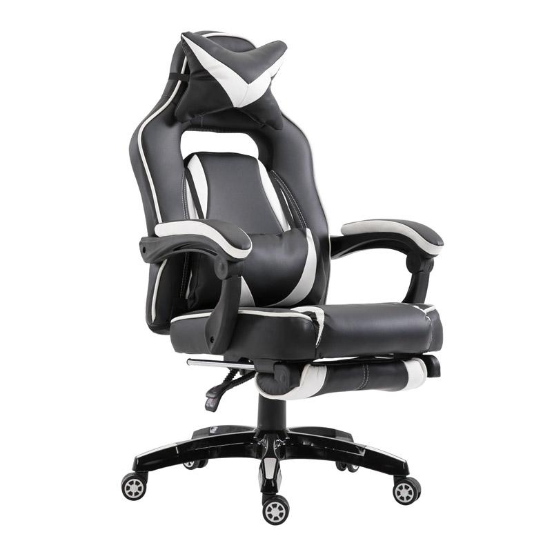 Καρέκλα Gaming με Υποπόδιο 71.5 x 68 x 114-123.5 cm Χρώματος Λευκό Vinsetto 921-120WT - 921-120WT