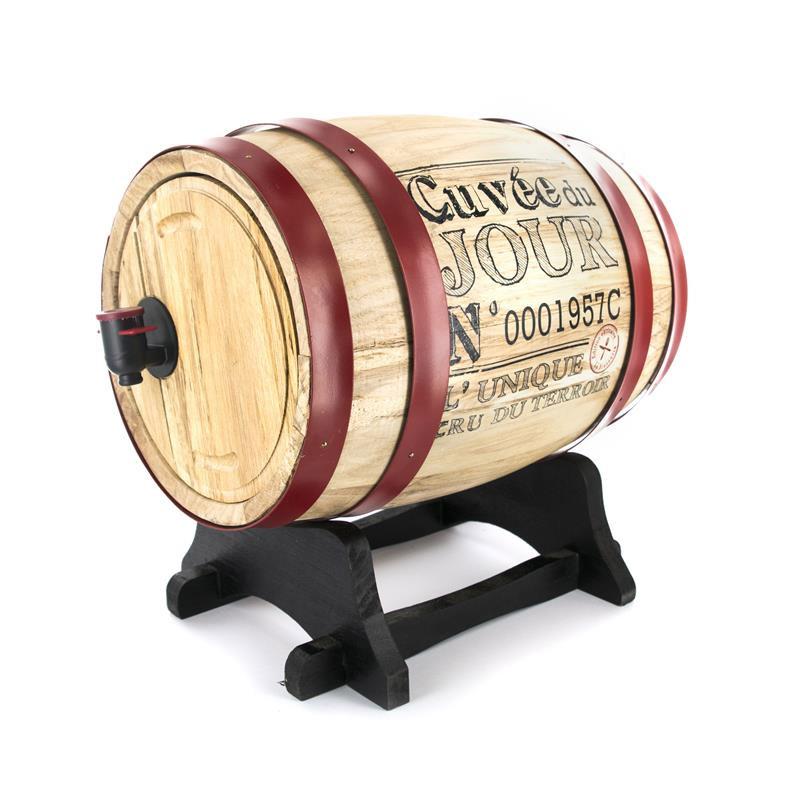 Διανεμητής Κρασιού σε Σχήμα Βαρελιού με Βάση 5 Lt Home Deco Factory KV7166 - KV7166