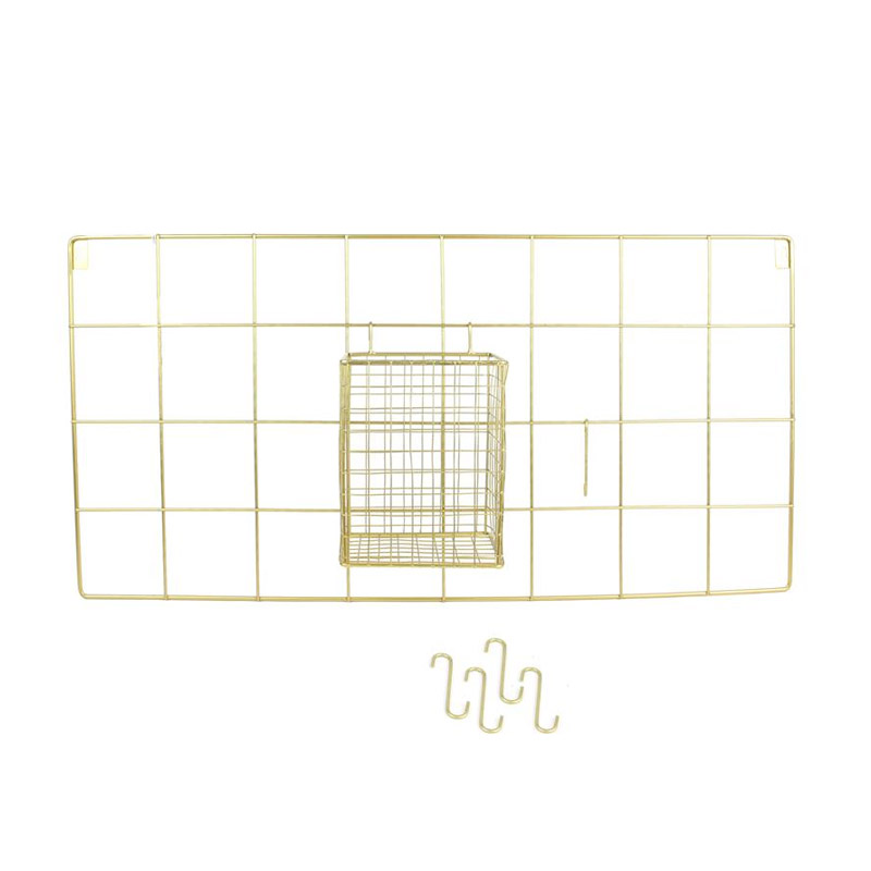 Μεταλλικό Διακοσμητικό Πλέγμα Τοίχου από Ανοξείδωτο Ατσάλι 60 x 30 x 12.5 cm Home Deco Factory KA2951 - KA2951