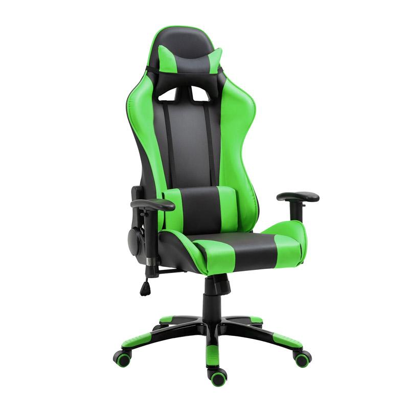 Καρέκλα Gaming 67 x 67 x 123-132 cm Χρώματος Πράσινο HOMCOM 921-037GN - 921-037GN