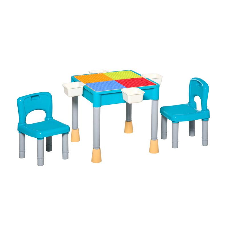 Σετ Παιδικό Τραπέζι με 2 Καρέκλες και 4 Κουτιά HOMCOM 312-038 - 312-038