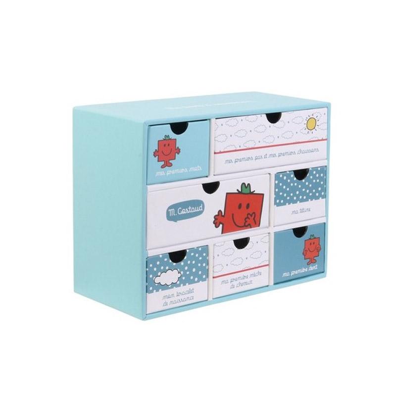 Χάρτινο Παιδικό Κουτί Αποθήκευσης με 7 Συρτάρια 19 x 9 x 15 cm Costaud Monsieur Madame MM3287C - MM3287C