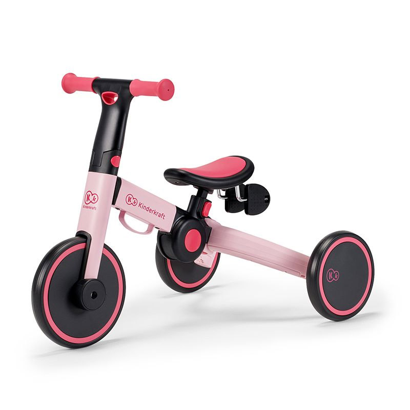 Παιδικό Πτυσσόμενο Τρίκυκλο Ποδήλατο KinderKraft 4Trike Χρώματος Ροζ KR4TRI00PNK0000 - KR4TRI00PNK0000