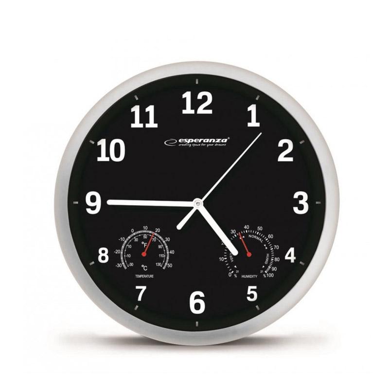 Ρολόι Τοίχου Esperanza Χρώματος Μαύρο EHC016K - EHC016K