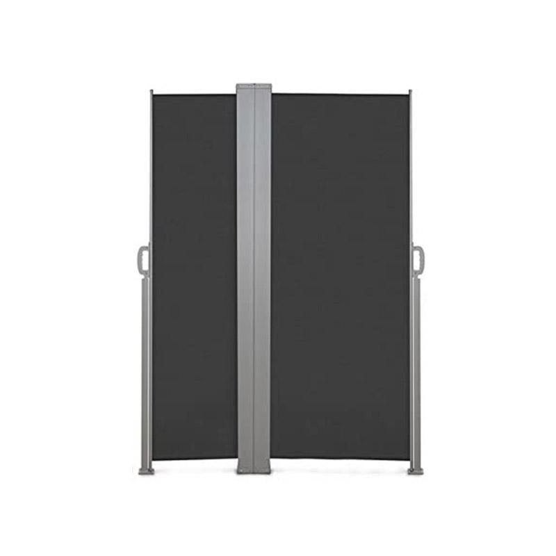 Διπλό Προστατευτικό Ρολό για τον Ήλιο και τον Αέρα 160 x 250 cm Χρώματος Ανθρακί Inkazen 40020219 - 40020219