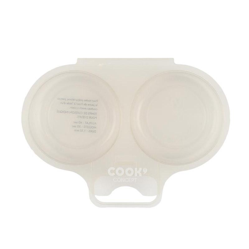 Διπλή Συσκευή Μαγειρέματος Αυγών για Φούρνο Μικροκυμάτων Χρώματος Taupe Cook Concept KC2152 - KC2152-Taupe