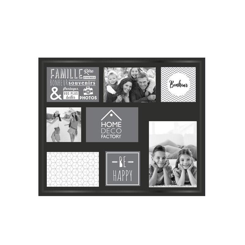 Πλαστική Κορνίζα Τοίχου 8 Θέσεων 37 x 3.5 x 47.2 cm Home Deco Factory HD2254 - HD2254