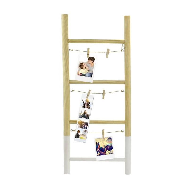 Ξύλινη Διακοσμητική Σκάλα για 6 Φωτογραφίες 25 x 2.5 x 60 cm Home Deco Factory HD2109 - HD2109