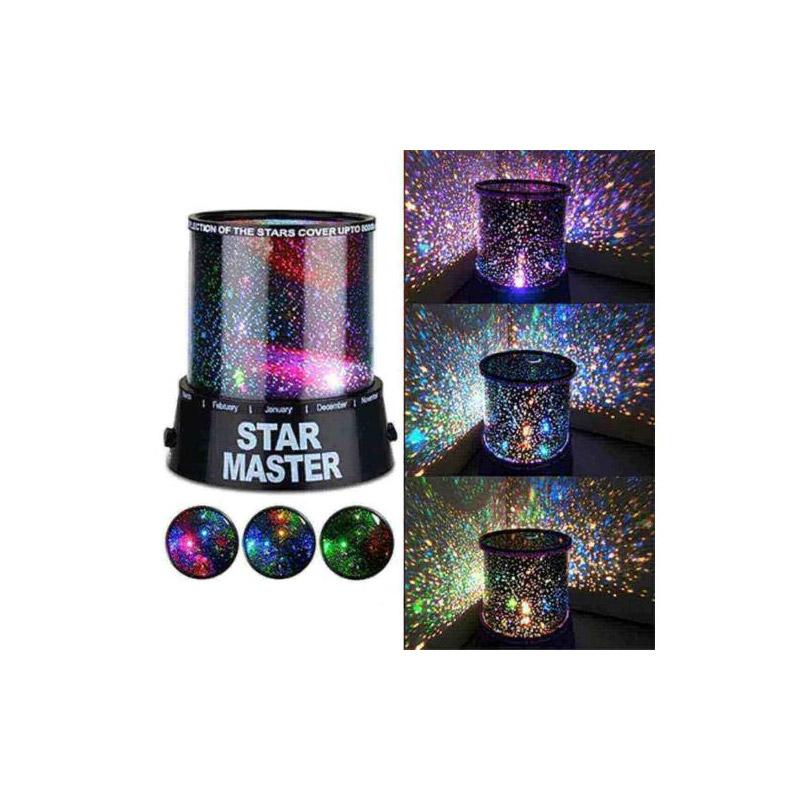 Επιτραπέζιο Περιστρεφόμενο LED Φωτιστικό με Αστέρια Hoppline HOP1000250 - HOP1000250