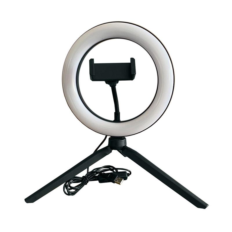 Φωτογραφικό Φωτιστικό LED Δαχτυλίδι Selfie 20 cm με Βάση Κινητού GEM BN2284 - Gem BN2284