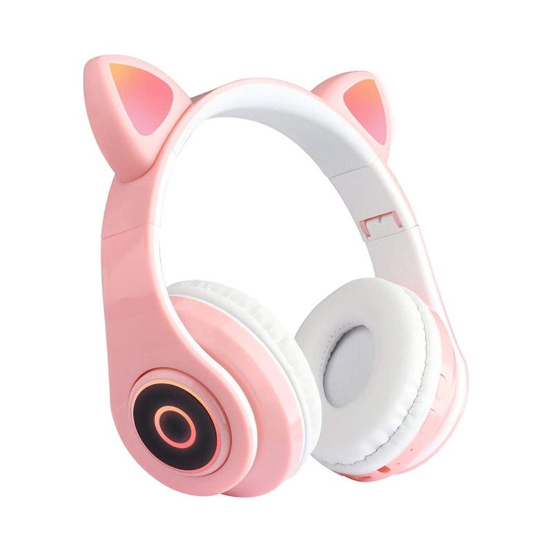Ασύρματα Ακουστικά Bluetooth Γάτα Χρώματος Ροζ SPM B39-Pink - B39-Pink